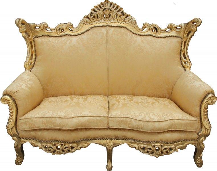 Casa Padrino Barock 2er Sofa Master Jadegrün /Beige / Gold ...