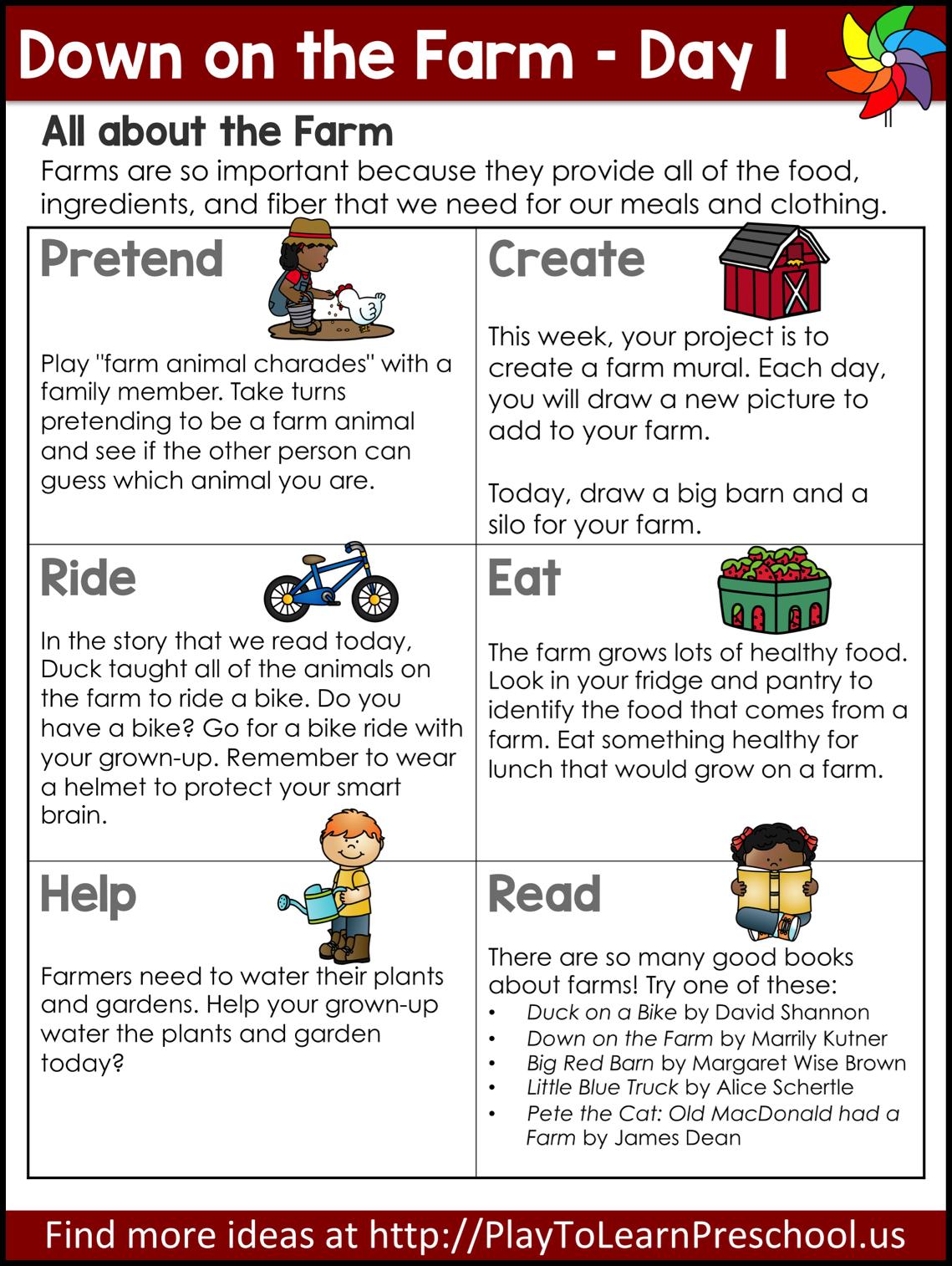 Farm Circle Time - Virtual Preschool Lessons in 2020 ...