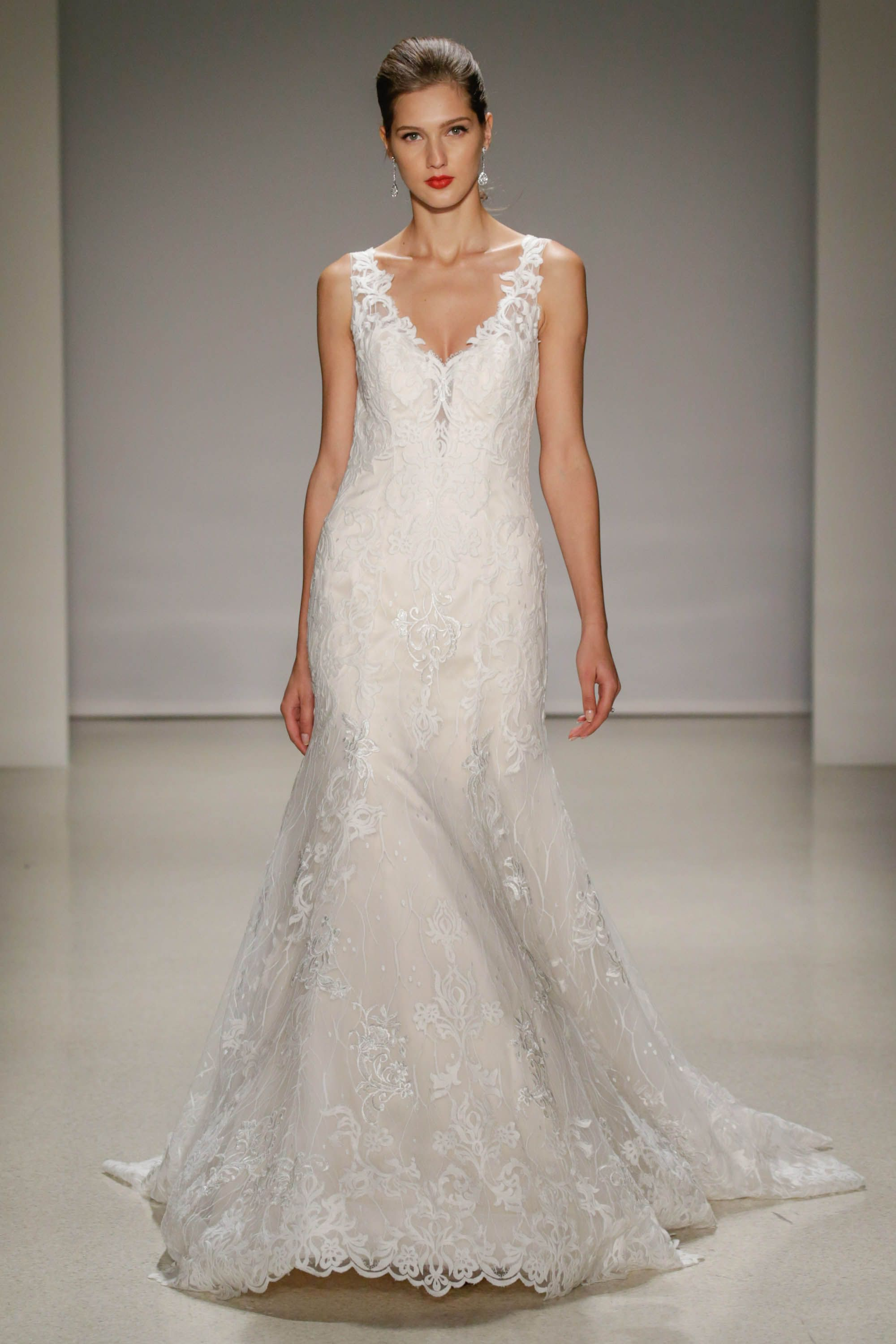 Lace fit and flare wedding dress with low back | Products I Love ...