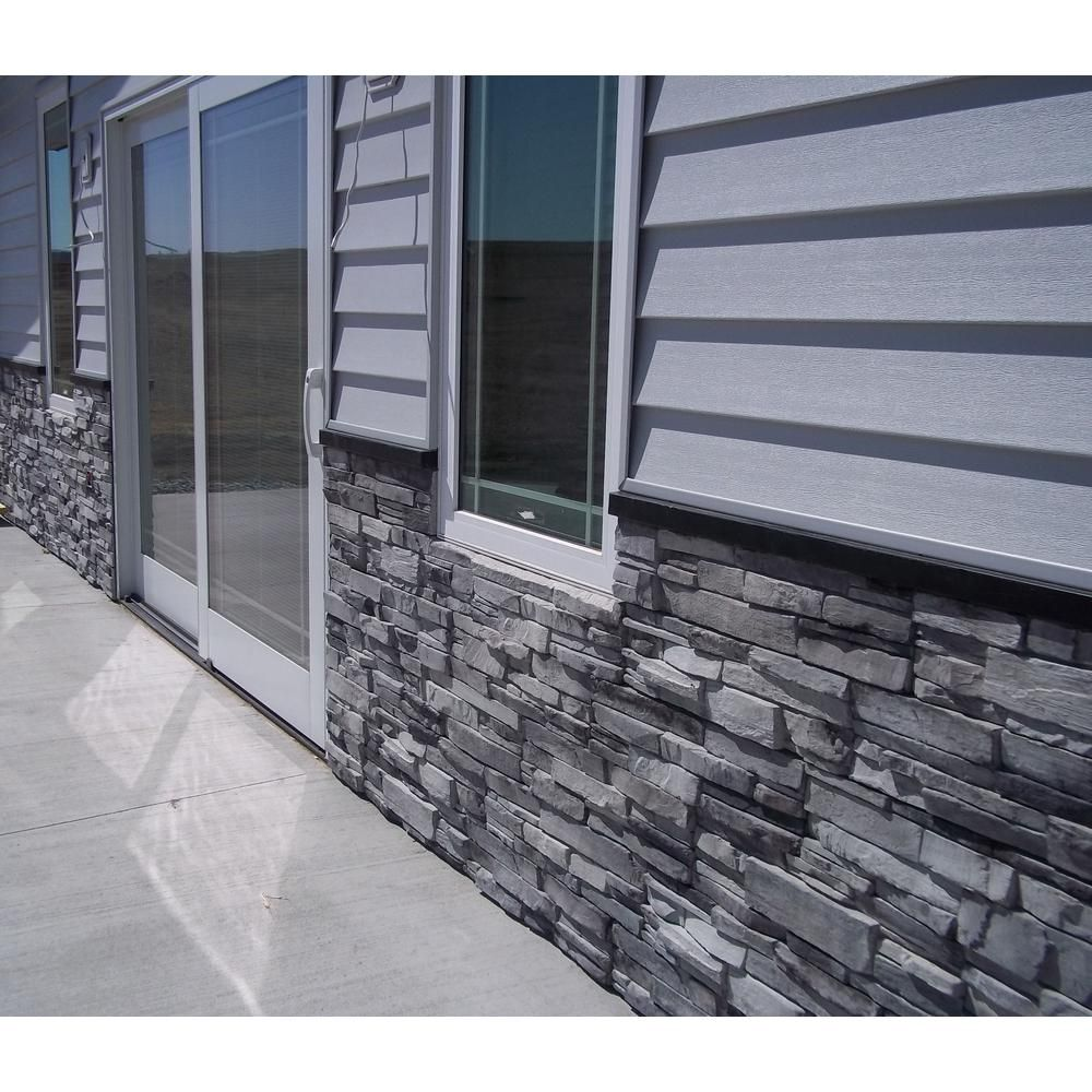 Adorn 23 5 In X 6 In Colorado Gray Stone Veneer Siding Flats Cgflat The Home Depot Brick Exterior House Stone Siding Exterior Grey Stone House