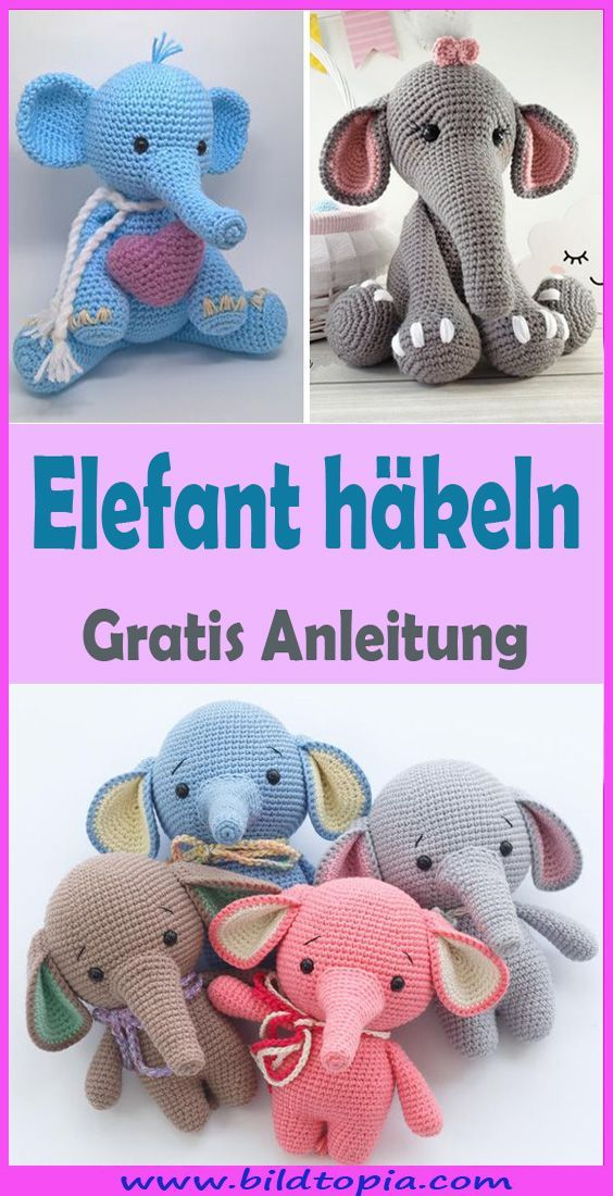 Photo of Häkeln Sie Amigurumi Elefant – kostenlose DIY-Anleitung – Kleiner Balkon Ideen