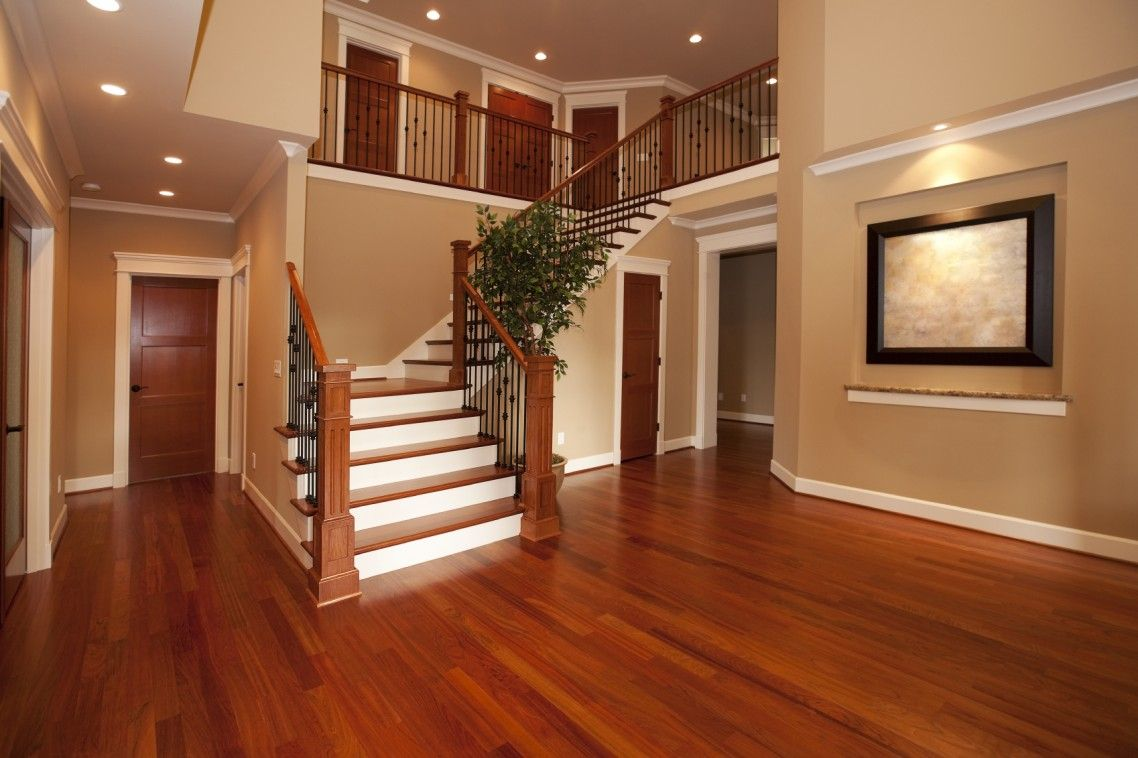 Hardwood floor with wood trim flooring house level and for Wood floor and ceiling