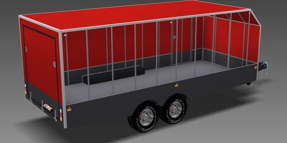 Large Enclosed TRAILER PLANS - Build your own LARGE ...
