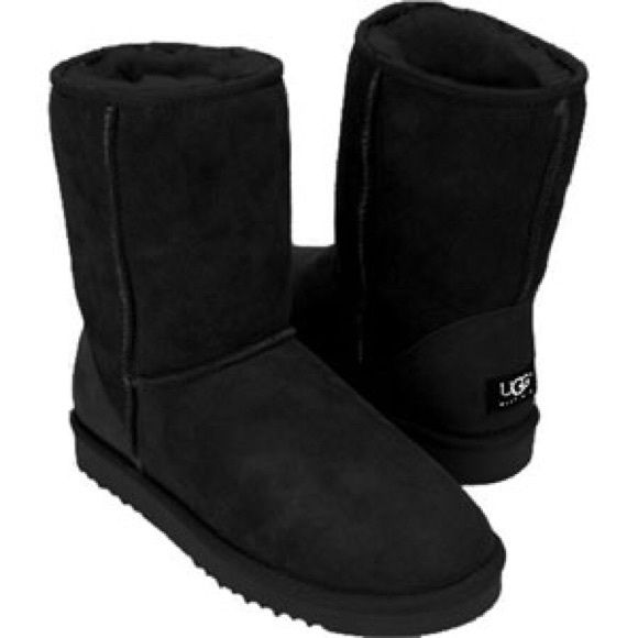 7981b5c7ab3 Uggs on | Footwear | Black uggs, Ugg classic short, Uggs