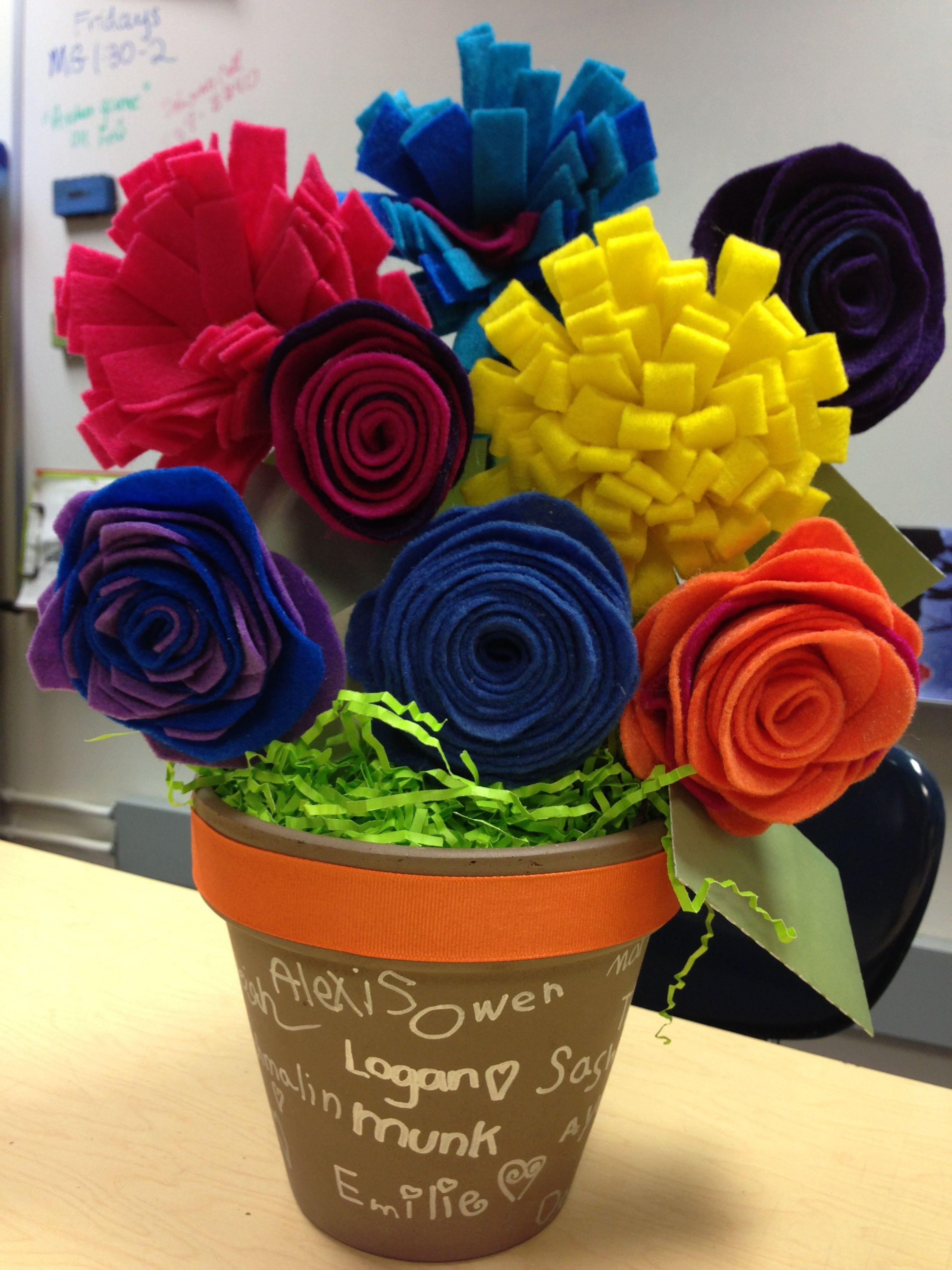 Gift card bouquet for teacher appreciation gift card