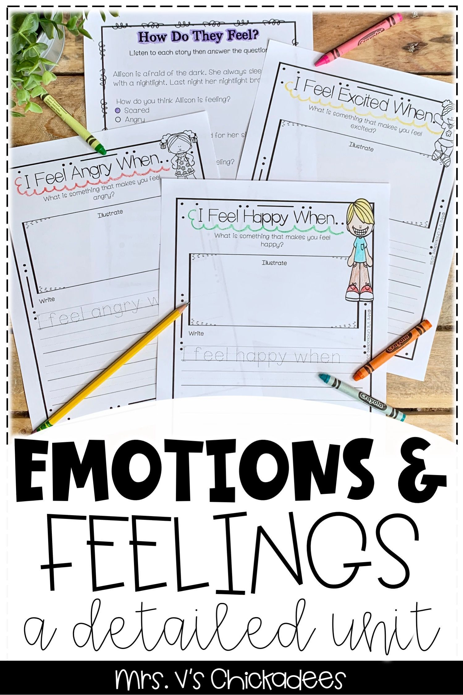 Emotions A Detailed Unit On Feelings And Emotions With