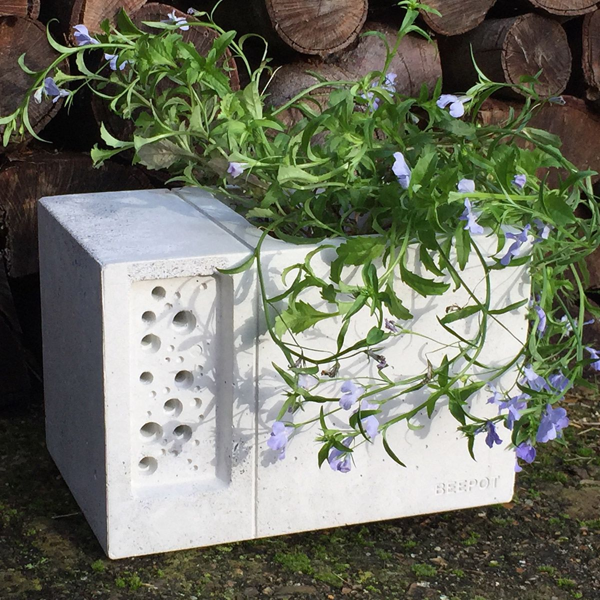 The Beepot Bee Hotel Is A Beautiful Concrete Planter Inspired By The Award  Winning Bee Brick, Only This Time Weu0027ve Added A Diner On The Bees Doorstep!