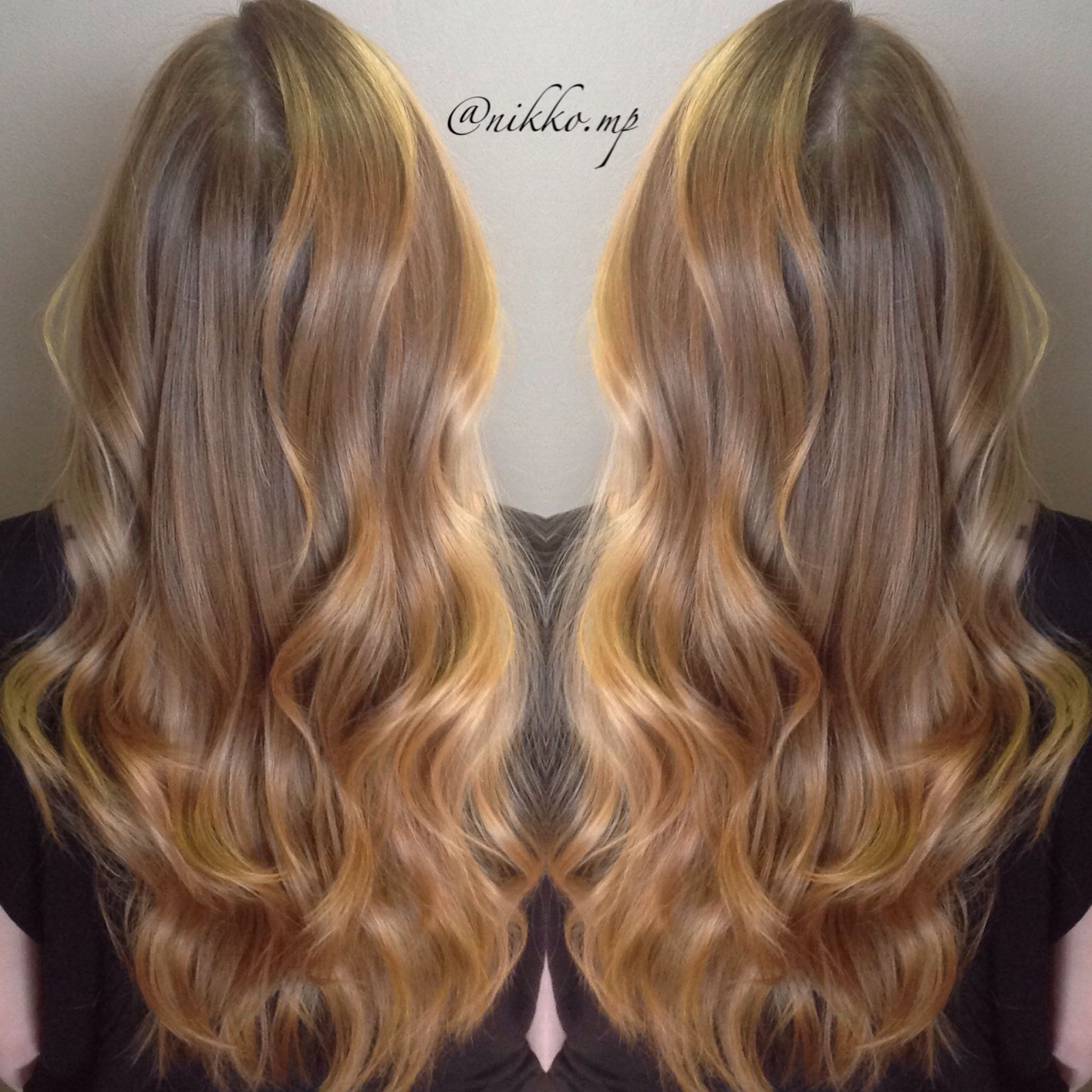 Balayage Ombr Hand Painted Highlights Bronde Hairs
