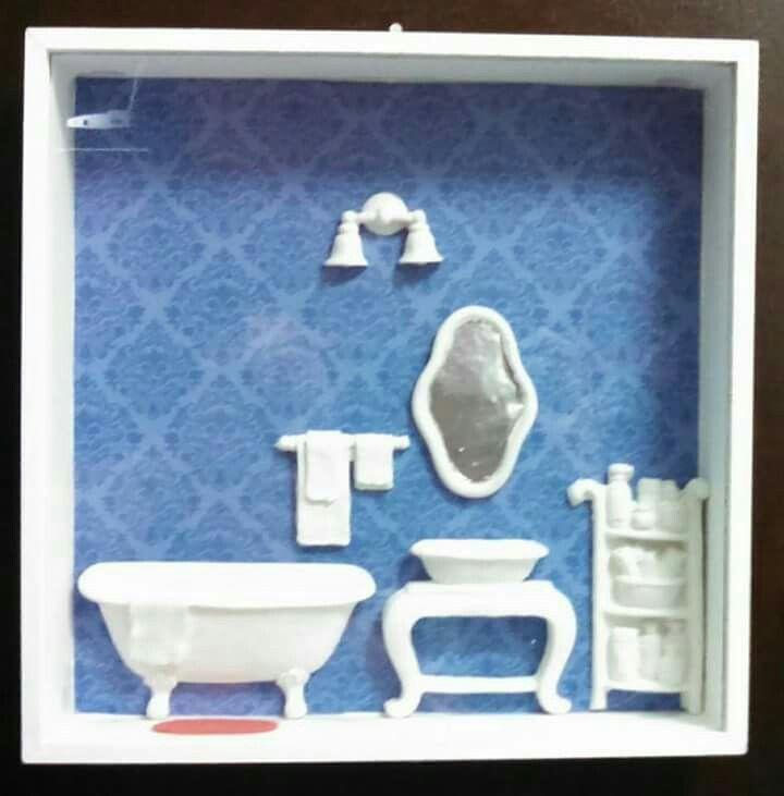 Quadro cenário, banheiro!