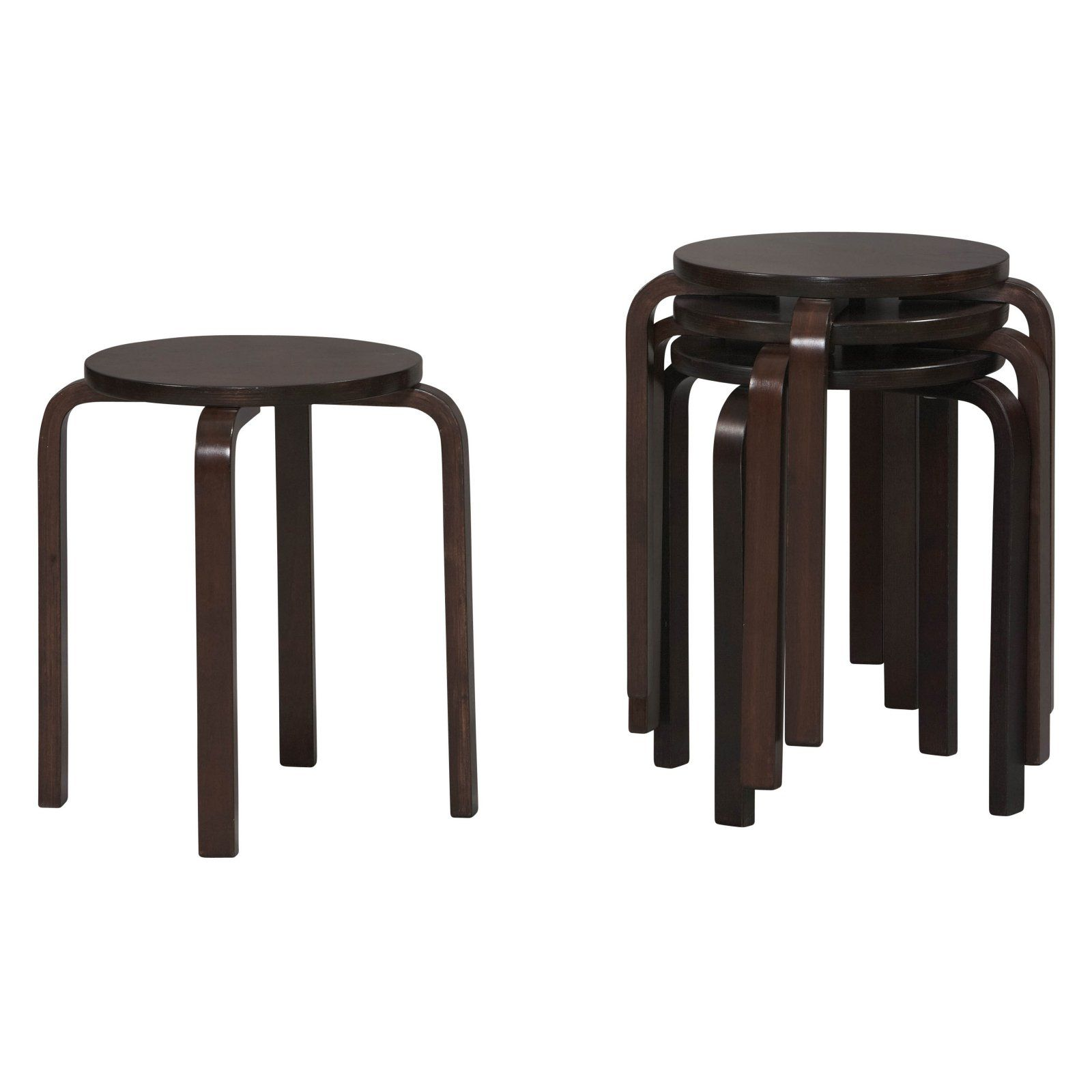 Superb Linon Bentwood Stackable Short Stool 17 In Set Of 4 Squirreltailoven Fun Painted Chair Ideas Images Squirreltailovenorg