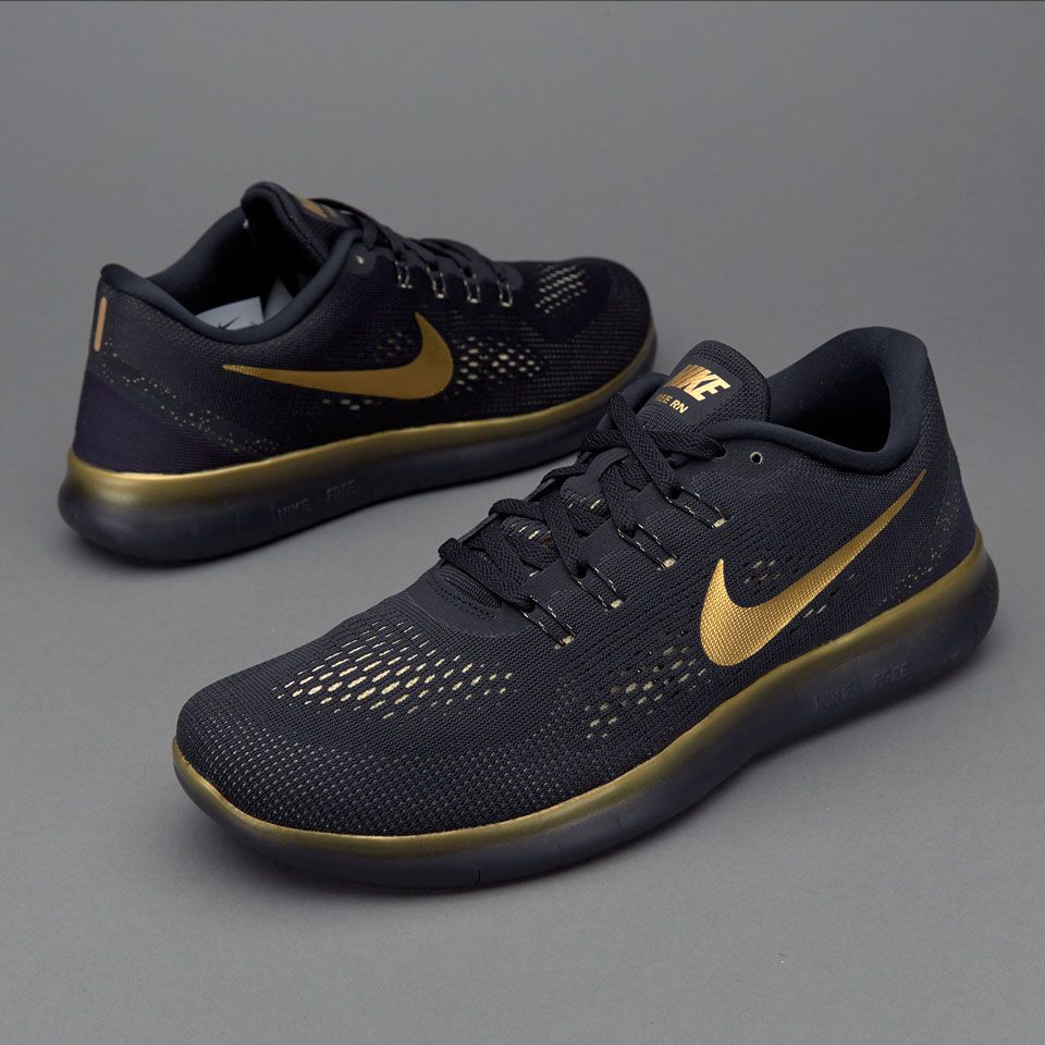 ... cheap nike free rn le womens running shoe black and gold afdcb 2dcc3 71950e87f
