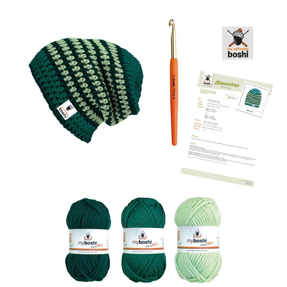 Myboshi Wolle Hatnut My Boshi Häkelset Mütze 1 X Hatnut Fresh Fb