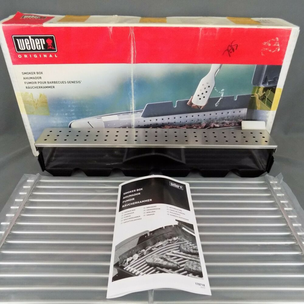 Weber 7541 Genesis 300 Smoker Box For Gas Grill New Open Box Free Shipping Weber Grill Smoker Grill Smoker Box Smoker Box