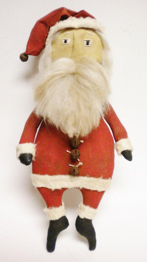 santa doll primitive santa dolls folk art santa claus dolls rh pinterest ch