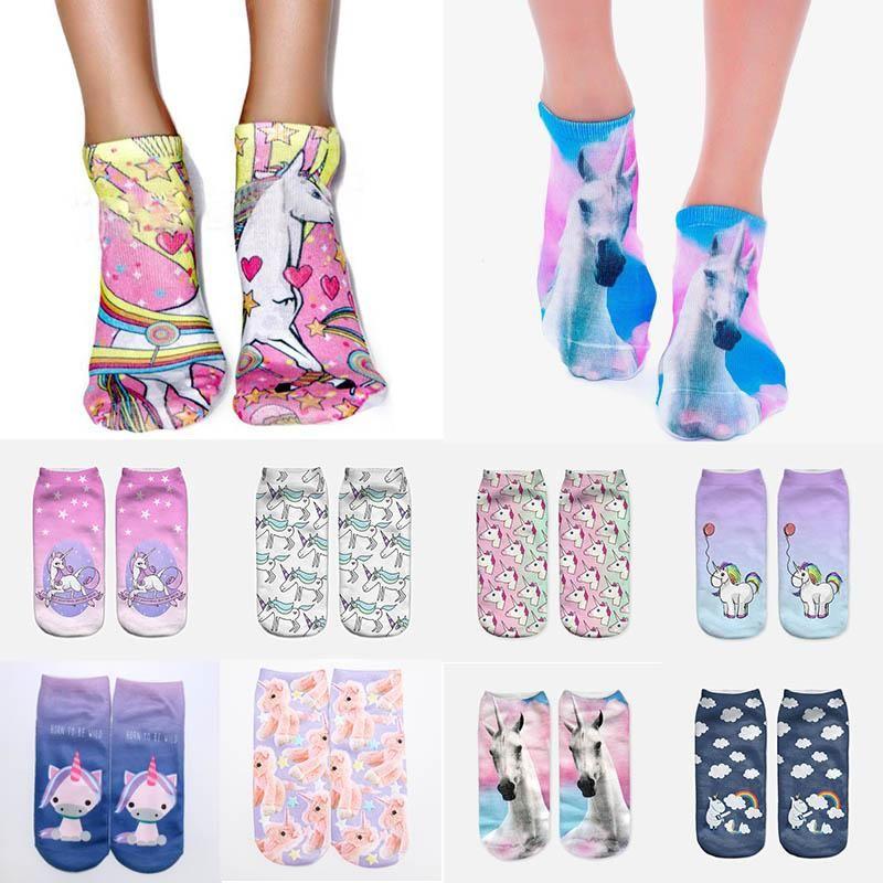 GUINEA PIG Printed 3D Ankle Socks Low Cut Unisex Cotton Blend Multicolour Sock