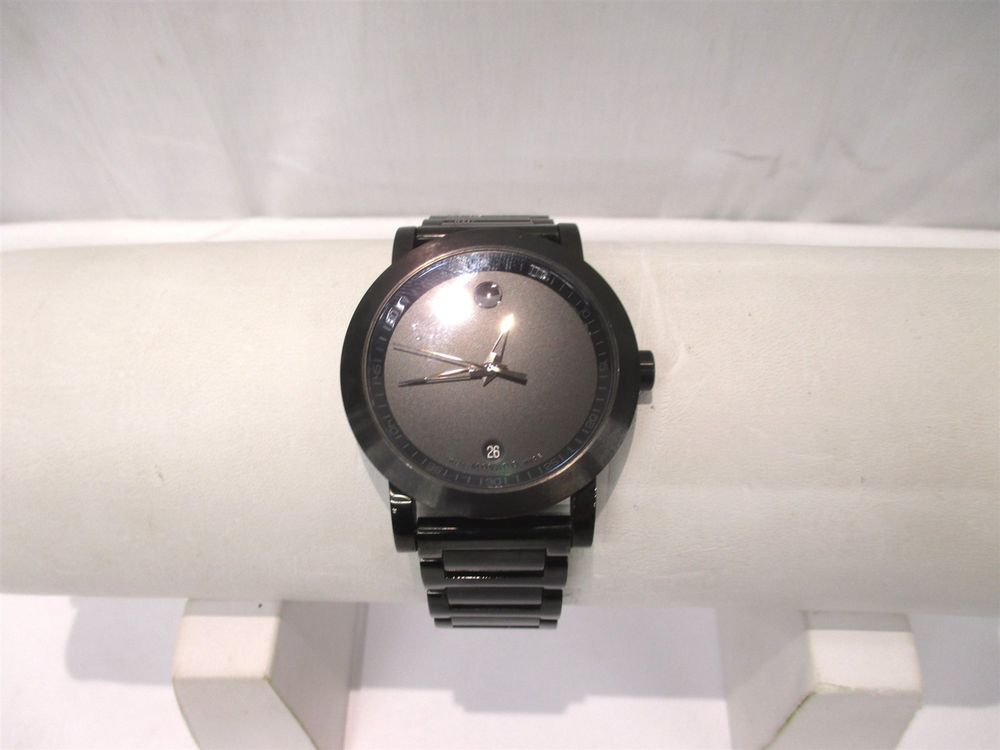 fc715e6f7 Movado Museum Sport Black PVD Stainless Steel 0606615 07.1.36.1202 Mens  Watch