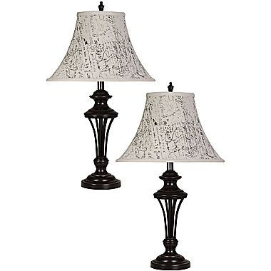 Jcp set of 2 brockton table lamps french farmhouse style jcp set of 2 brockton table lamps aloadofball Images