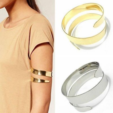 cool New Fashion Gold Plated Women Punk Upper Arm Armlet Cuff Bangle Bracelet Jewelry - For Sale View more at http://shipperscentral.com/wp/product/new-fashion-gold-plated-women-punk-upper-arm-armlet-cuff-bangle-bracelet-jewelry-for-sale/