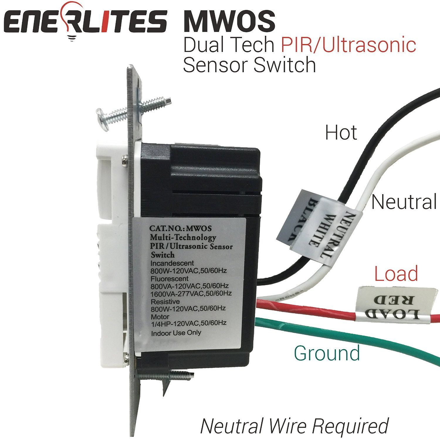Enerlites MWOS Dual Technology PIR Passive Infrared and Ultrasonic ...
