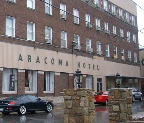 The Old Aracoma Hotel That Stood In Downtown Logan Wv From Around 1916 To 2010 When It Caught Fire Was Irreparably Damaged And Torn Down Shortly