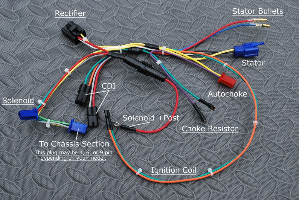 How To Use An American Made Bdx Wiring Harness On Your 150cc Chinese Engine In 2020 150cc Harness Motorcycle Wiring