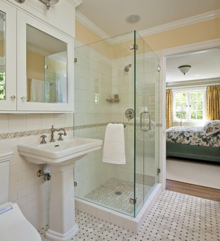 Ba os peque os con ducha 38 dise os de moda cuarto de - Diseno de cuartos de bano pequenos ...
