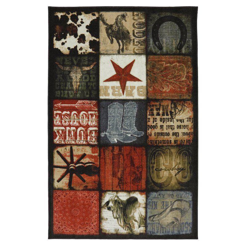 American Rug Craftsmen Escape Cowboy Patches Multicolor Indoor Area Rug - 12020 416 060096