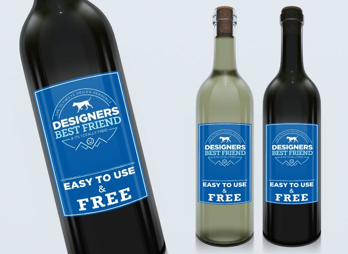 A nice and clean Wine PSD mock up template for commercial