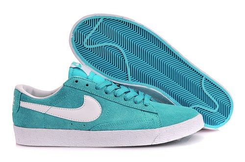 reputable site dd573 7926b ... reduced 525505 007 nike blazer low suede sky blue white women shoes  8bf0a ef49f