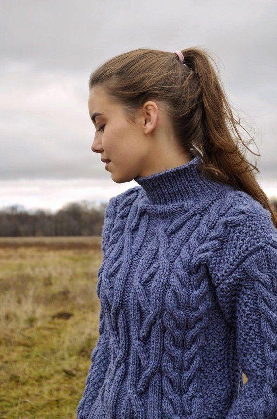 Gebreide wollen trui herfst fashion stijl boho kleding ...