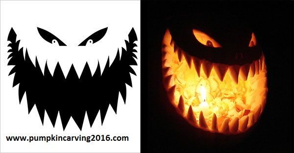 Free Scary Pumpkin Carving Patterns And Stencils 2016