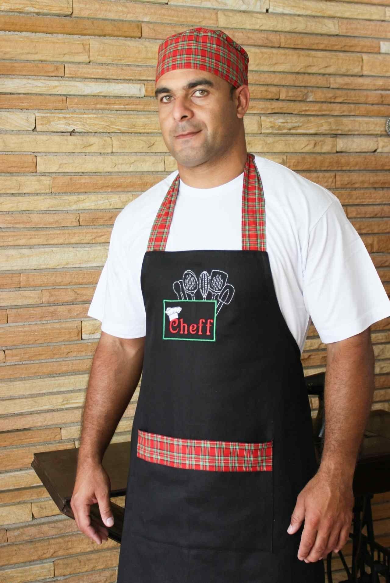 картинка мужчина в фартуке кухня