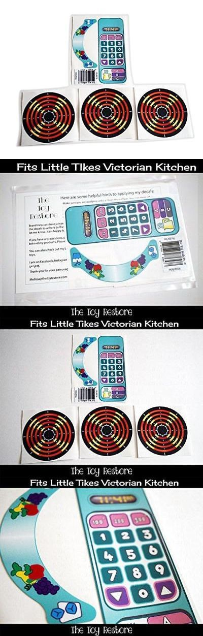 New Replacement Decals Fits Little Tikes Victorian Kitchen Pastel