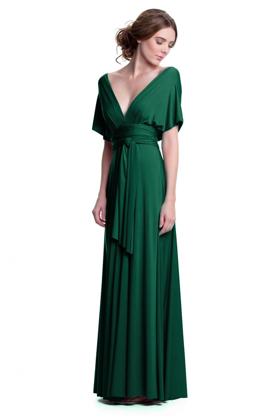 0b7107e747e Sakura Emerald Green Maxi Convertible Dress - Shop