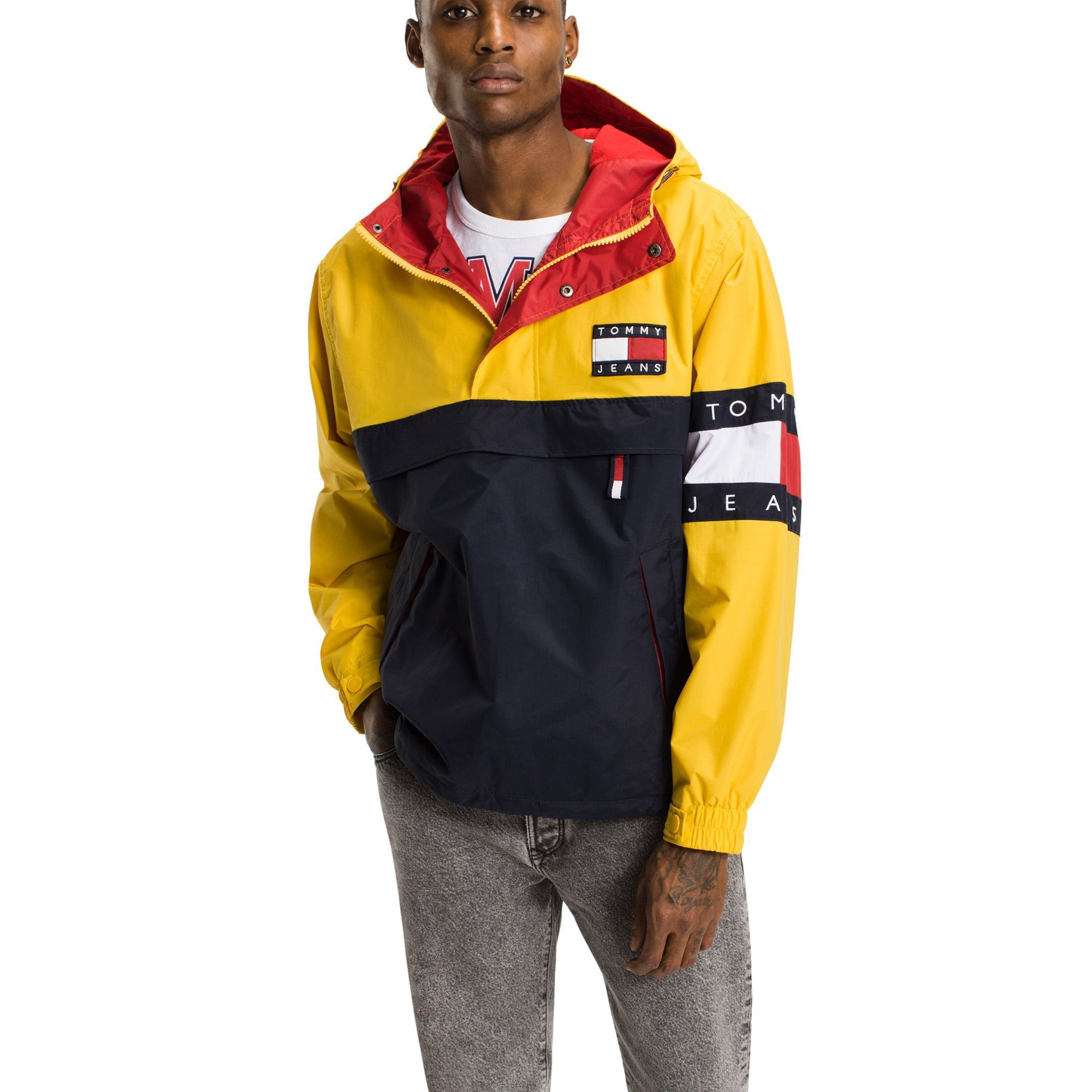 ac3b6791a295 TOMMY HILFIGER TOMMY JEANS COLORBLOCK WINDBREAKER - FREESIA / MULTI.  #tommyhilfiger #cloth #