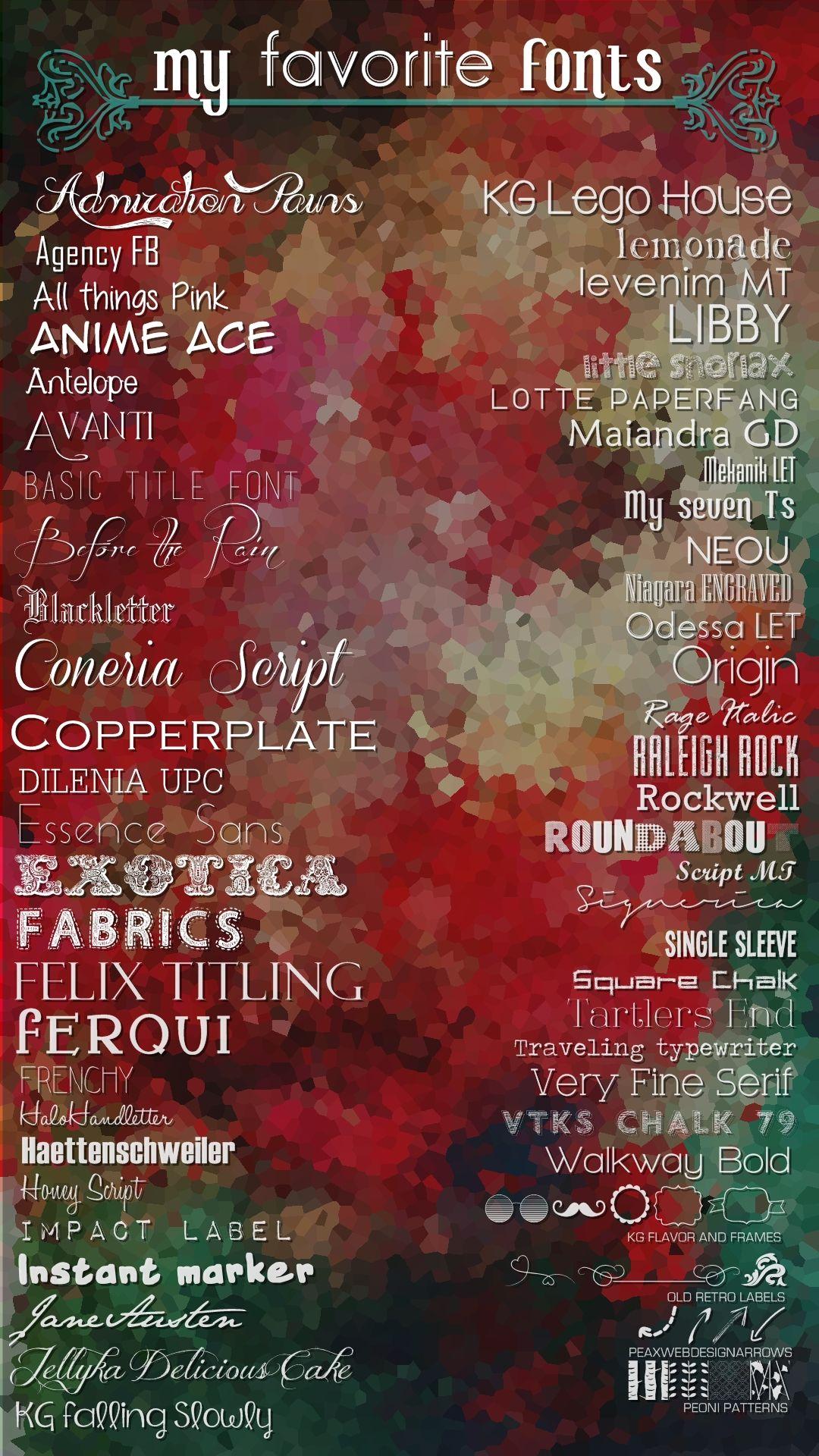 My favorite fonts Funky fonts, Favorite fonts, Divine design