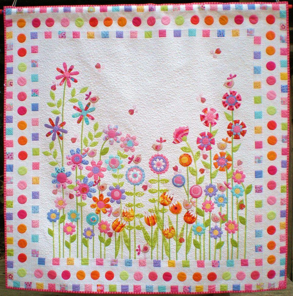 applique quilts | Love Birds Quilt Pattern Applique Floral by ... : baby quilt applique patterns - Adamdwight.com