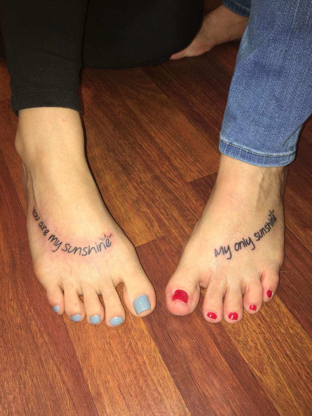 You Are My Sunshine Mother Daughter Feet Tattoos Foot Tattoo