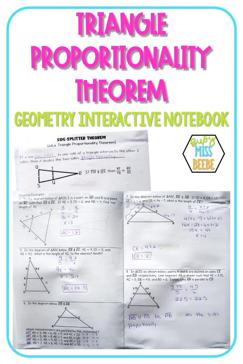 Check Out How I Teach The Triangle Proportionality Theorem