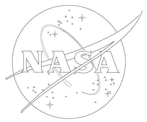 NASA Logo coloring page from Spaceships