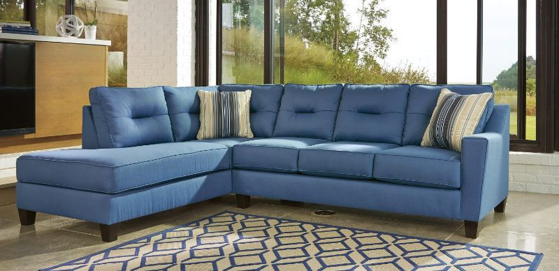 Strange Ashley Furniture 99603 16 67 2 Pc Kirwin Nuvella Blue Fabric Home Interior And Landscaping Palasignezvosmurscom