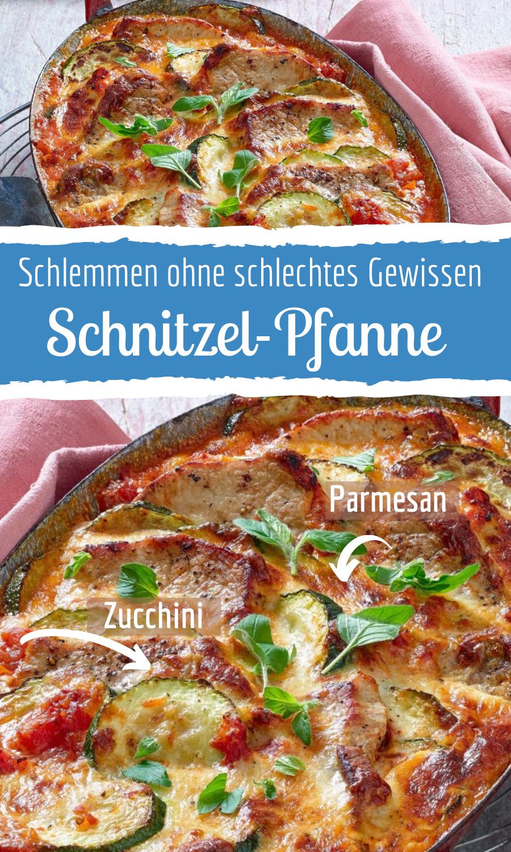 Putenschnitzel mit Zucchini und Parmesan
