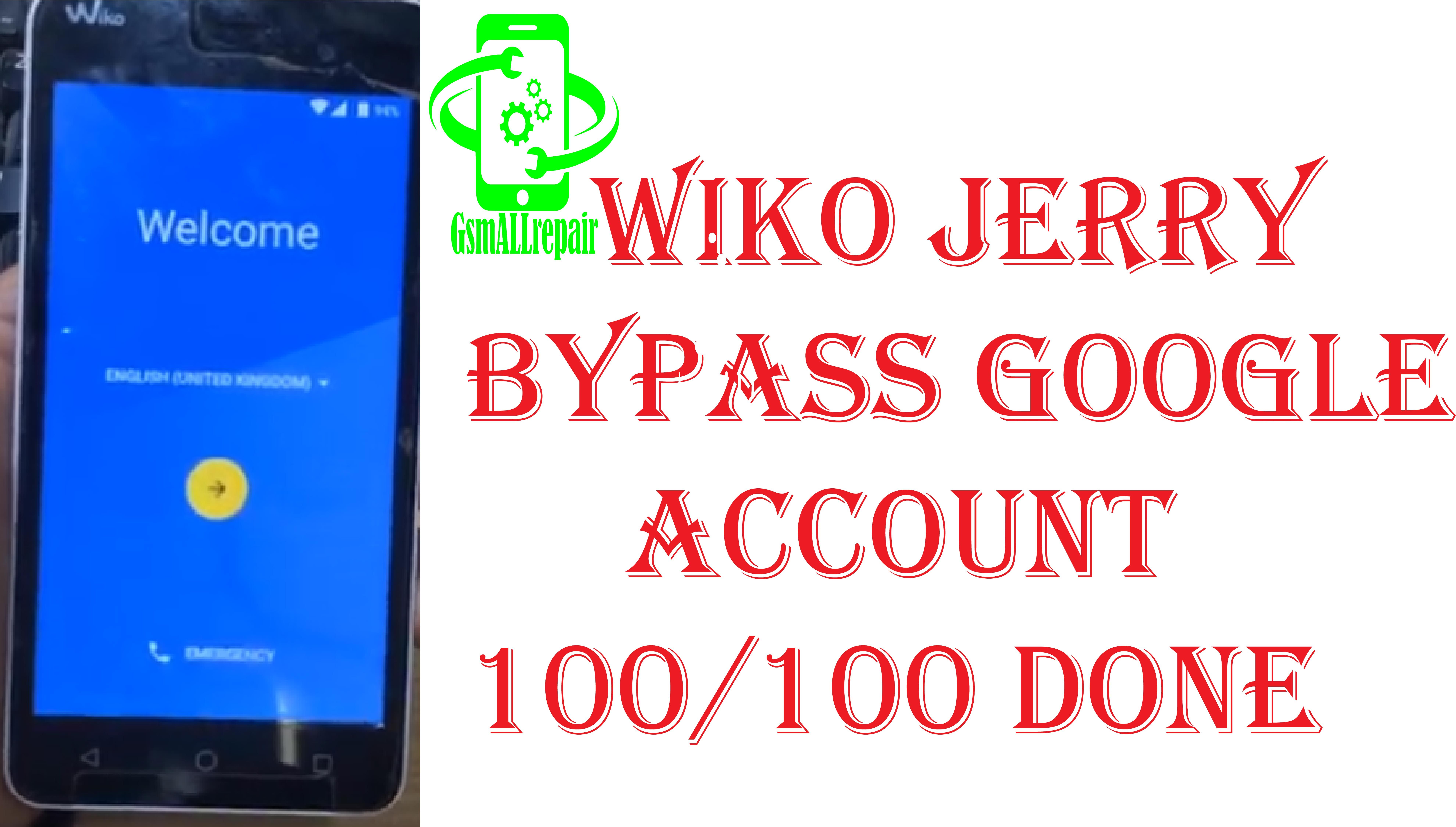 WIKO JERRY BYPASS google account | FRP WIKO | Google account
