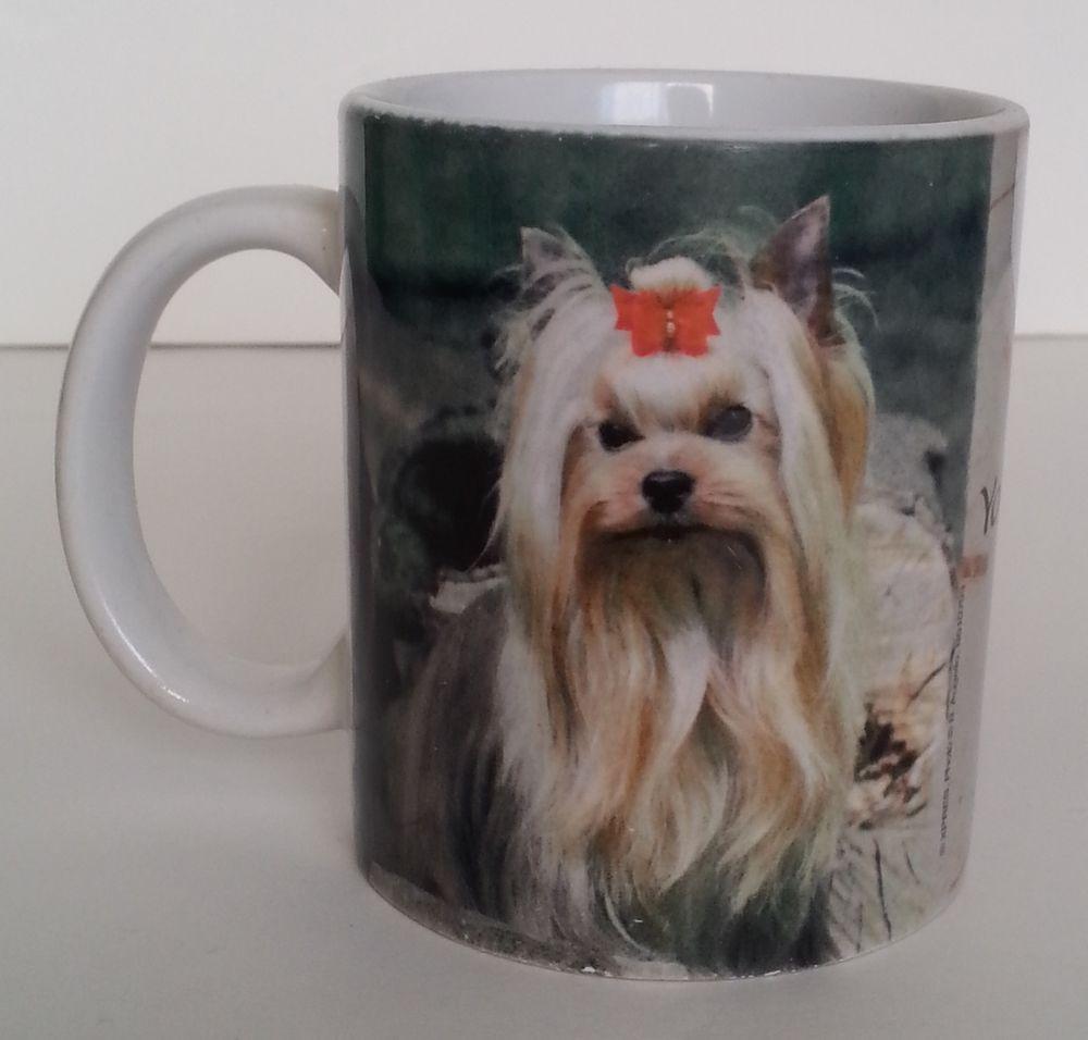 Yorkie Coffee Cup Mug Yorkshire Terrier Photo Toy Dog Breed Ceramic