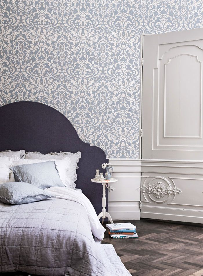Powder Blue Ornamental by Walls Republic is a medium scale