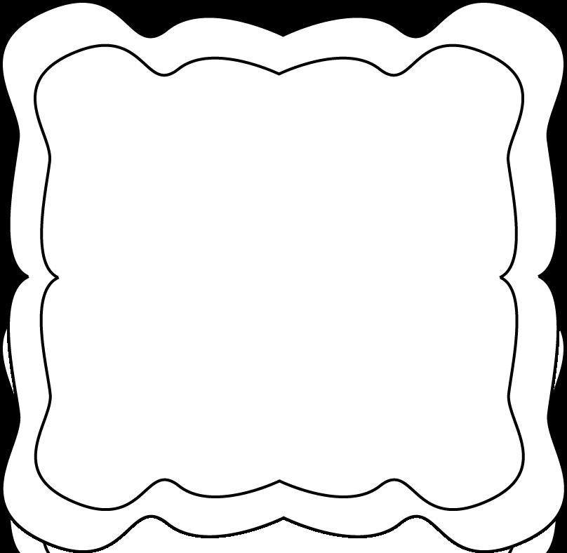 clip art black and white | Curvy Frame - black and white curvy clip ...