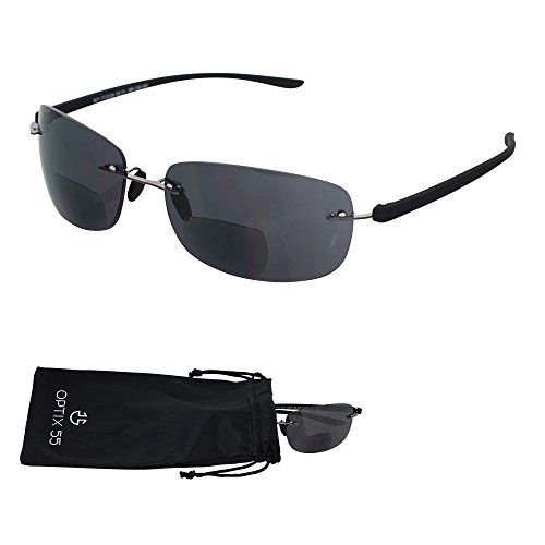 c0e436a886ff Rimless Bifocal Reading Sunglasses Lightweight Invisible Readers with UV  Ray Sun Protection 150 by Optix 55 -- Learn more by visiting the image link.