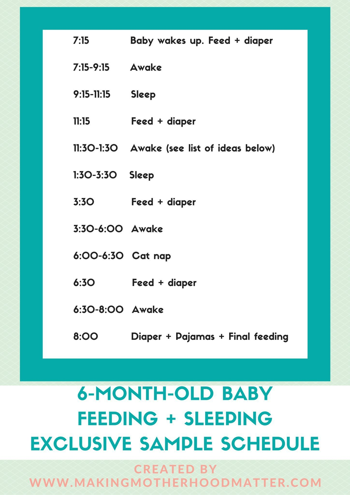 The Best 6 Month Old Baby Schedule And It S Printable