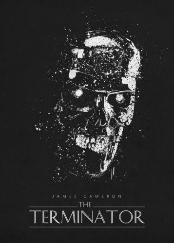 The terminator arnold james cameron classic movies posters splatter black schwarzenegger