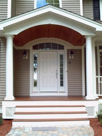 Portico Perfection Dream Homes Pinterest Porch Front - Colonial portico front entrance
